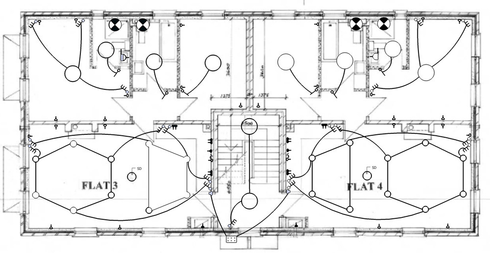 Colorful Electrical Installation Drawing Ensign - Electrical and ...