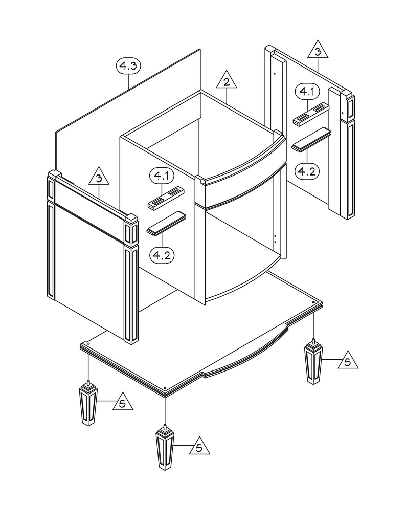 794x1024 Furniture Assembly Drawing