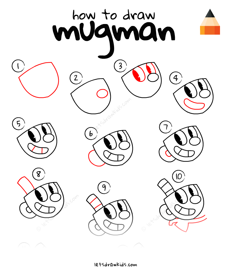 798x940 How To Draw Mugman