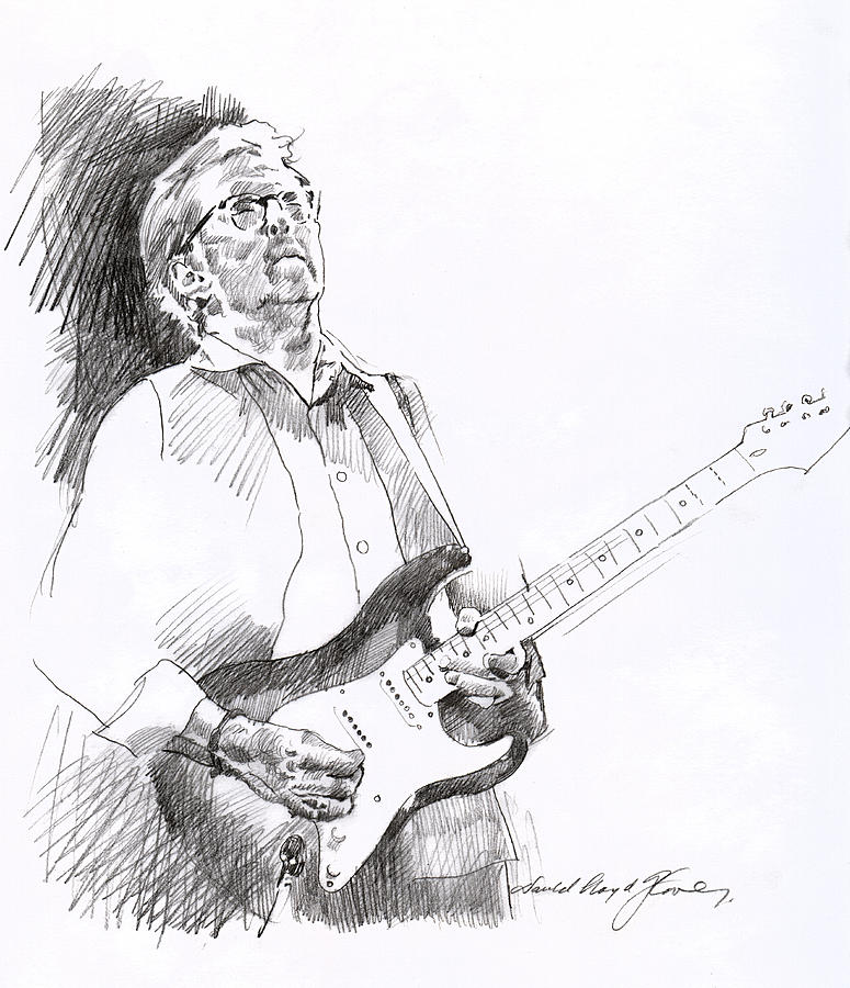 775x900 Eric Clapton Joy Drawing By David Lloyd Glover