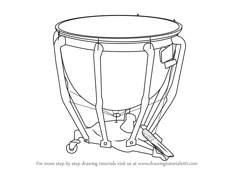 800x566 Learn How To Draw Timpani (Musical Instruments) Step By Step