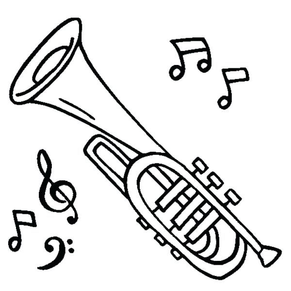 600x600 Coloring Pages Of Musical Instruments