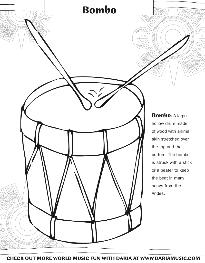841x1080 Musical Instruments Coloring Pages For Boys Of Printable Free Kids