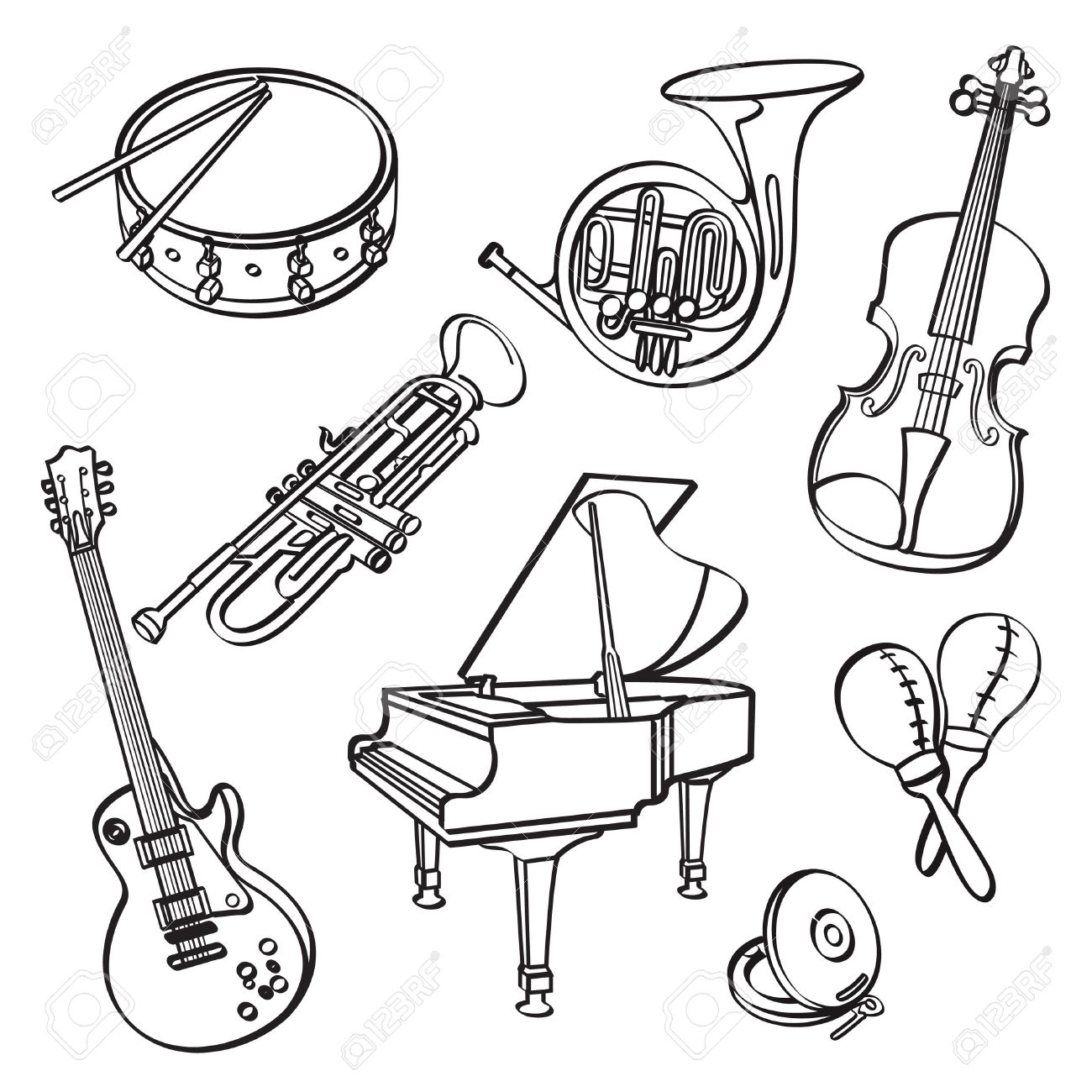 1300x1300 Musical Instruments Royalty Free Cliparts, Vectors, And Stock