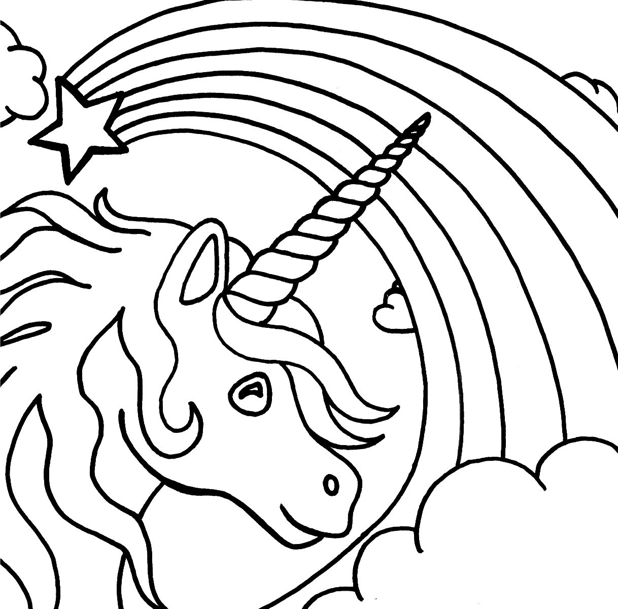 1218x1200 Free Unicorn Coloring Pages Printable Archives