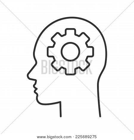 450x470 Human Head Cogwheel Inside Linear Vector Amp Photo Bigstock