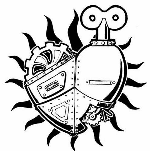 497x500 Steampunk Heart Tattoo Stencils Creativity Is Intelligence