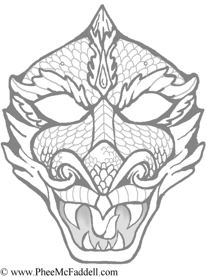 670x900 Dragon Faces Pictures Many Interesting Cliparts On Coloring Pages