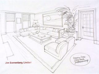 320x240 Interior Design Pencil Drawing Design Jon Bannenberg For A Drawing