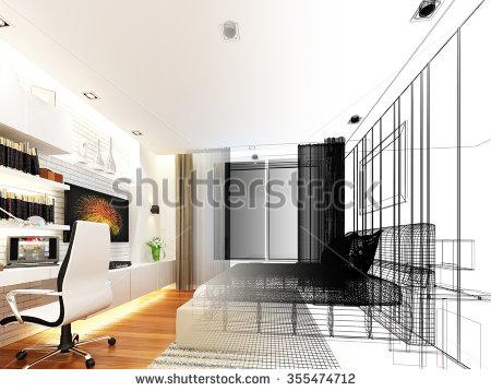 450x358 Interior Design Bedroom Sketches