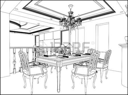 450x335 Interior Designs Clipart Sketch Living Room