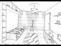 236x177 Design Bedroom Sketches One Point Perspective