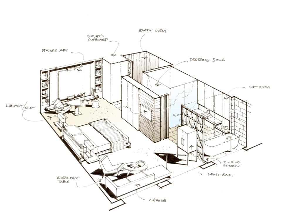 965x736 Intercontinental Hotel Dubai Festival City Plan