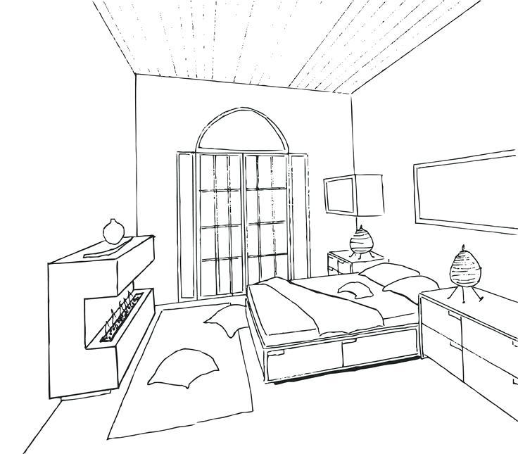 736x645 Interior Design Bedroom Sketches A Interior Sketch Picture On