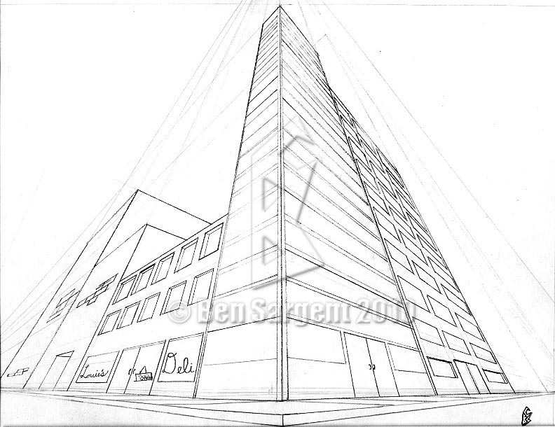 792x610 Top Perspective Drawings Of Buildings And Building Perspective