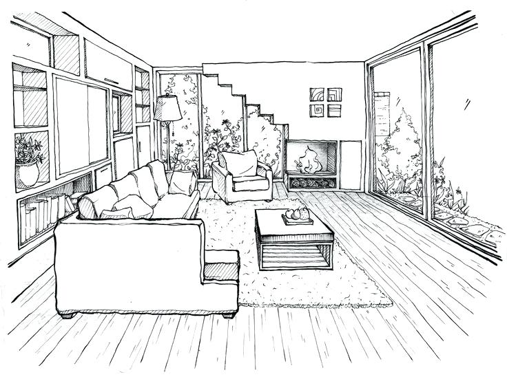 736x551 Bedroom Perspective Drawing Biggreen.club