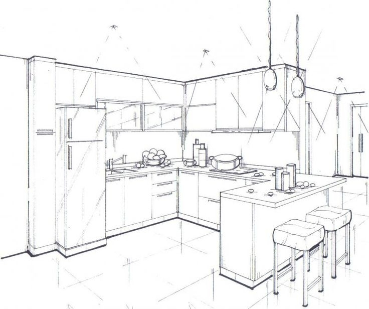 736x616 Interior Design Sketches Kitchen Best 25 Interior Design Sketches