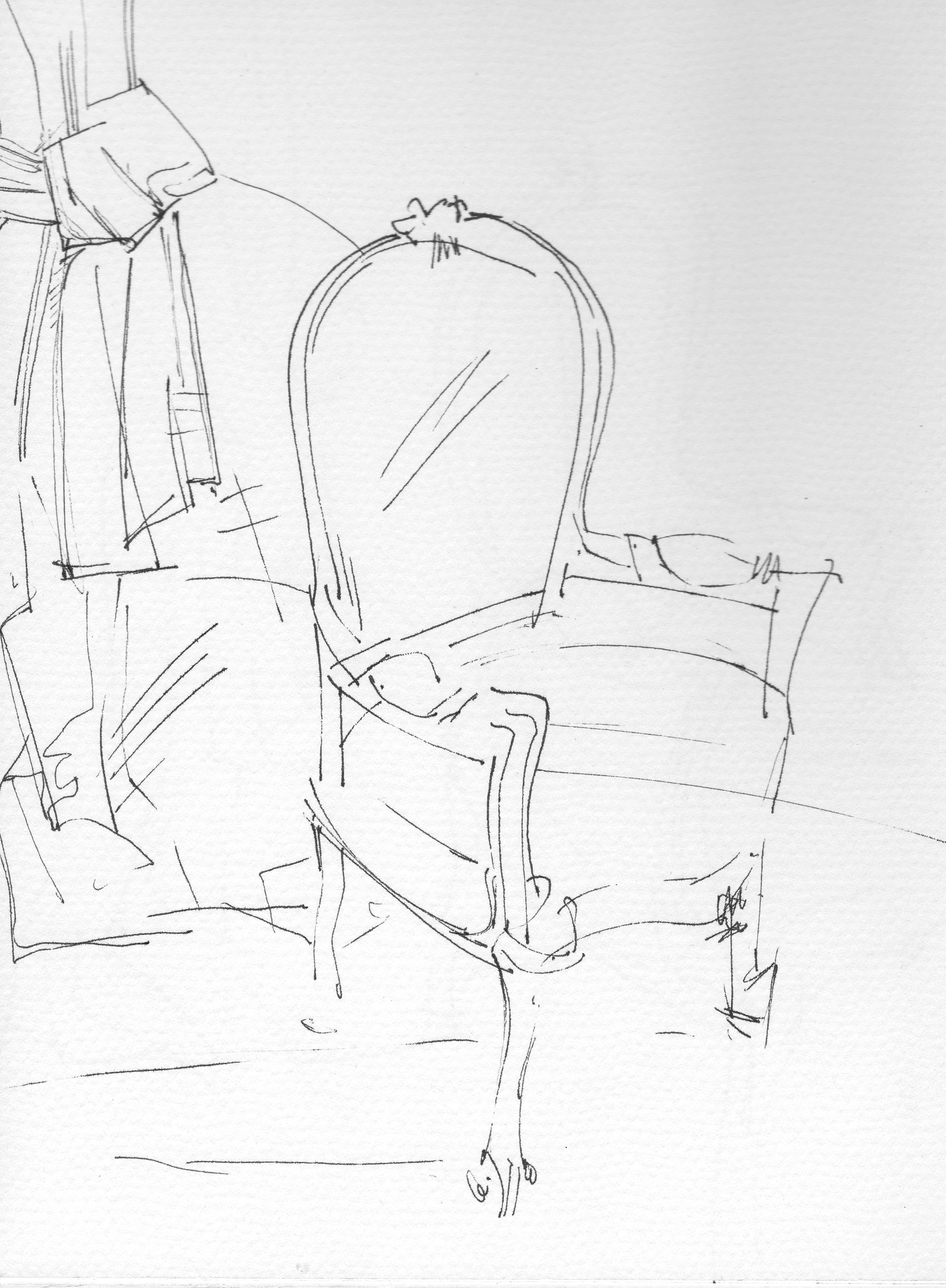 2160x2940 Interiors Chair Drawing Chair Interiors Vintage Fabrics Chair