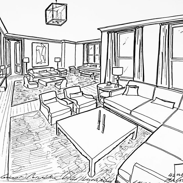 640x640 Concept Perspective View Of A Living Room For A Project