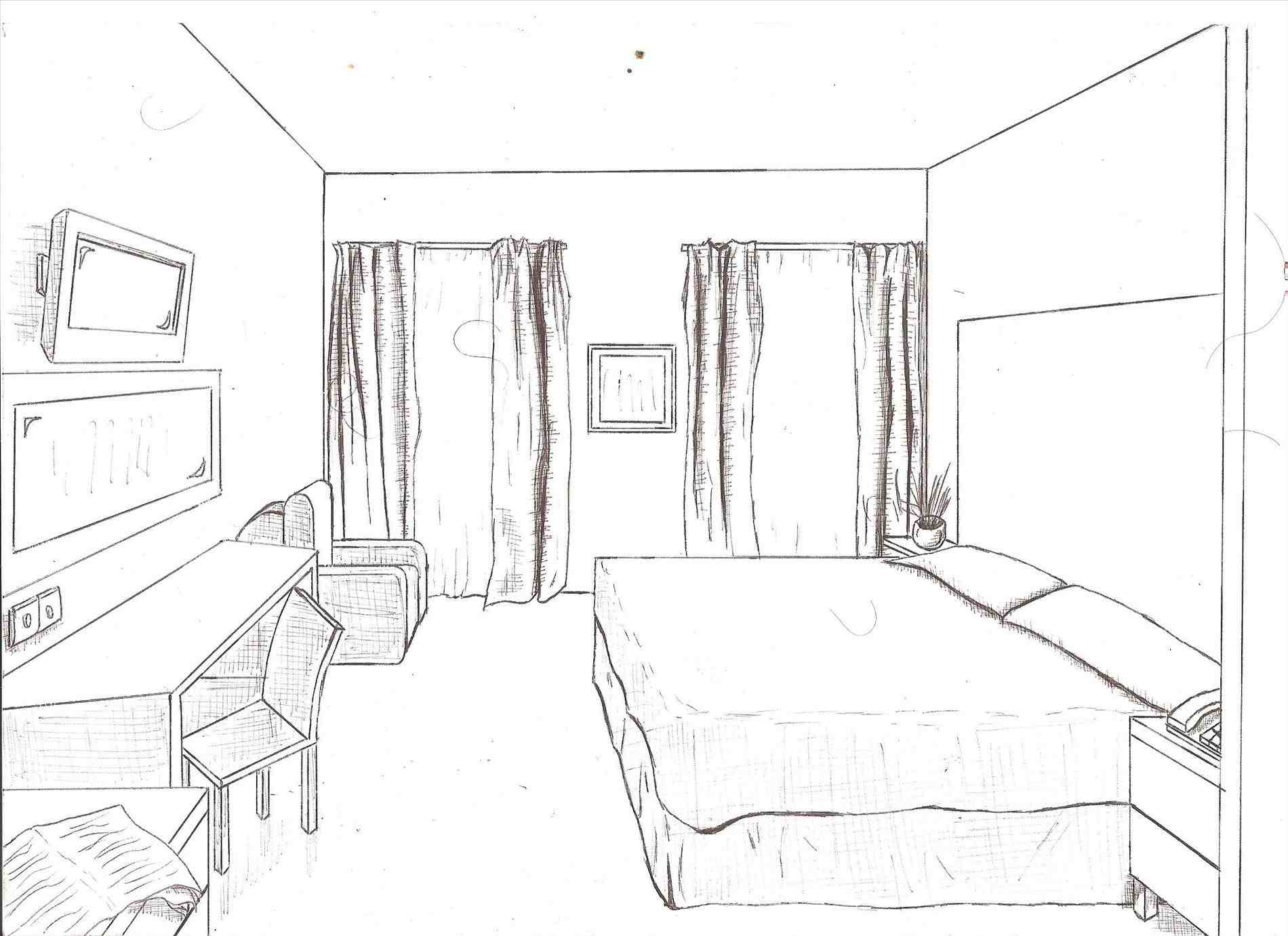 1900x1381 Perspective Drawing Living Room Great Home Design