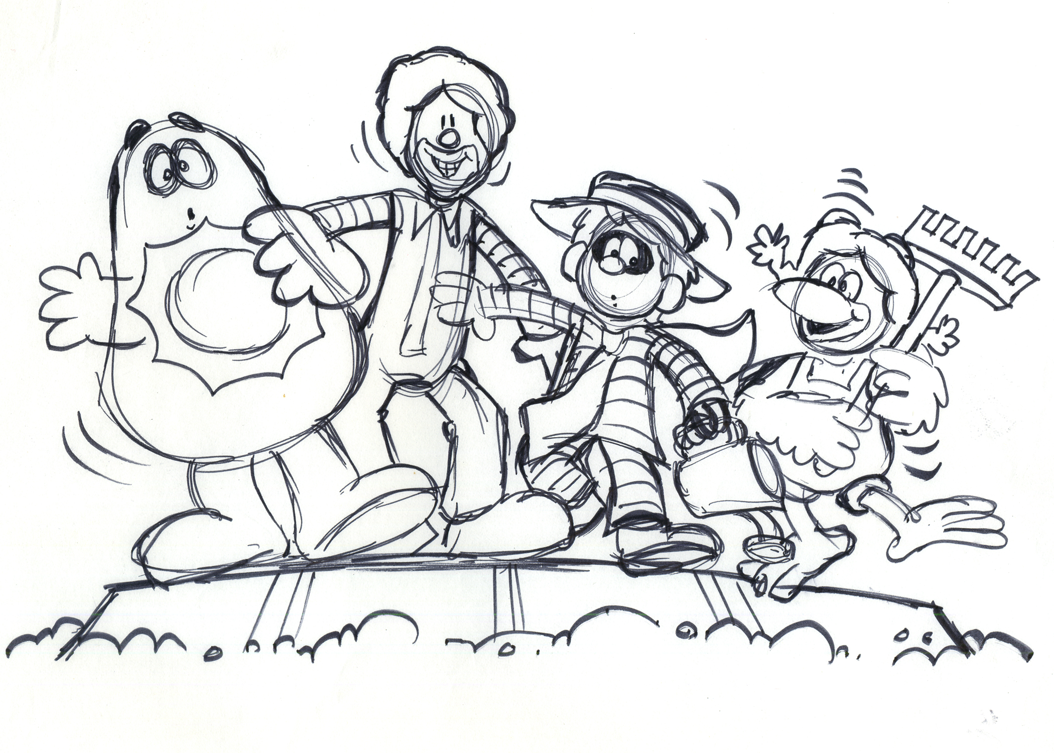 2100x1500 Rough Storyboard Drawing For An International Commercial Called