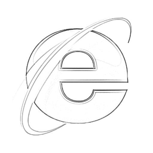 512x512 Internet Explorer Logo Sketch
