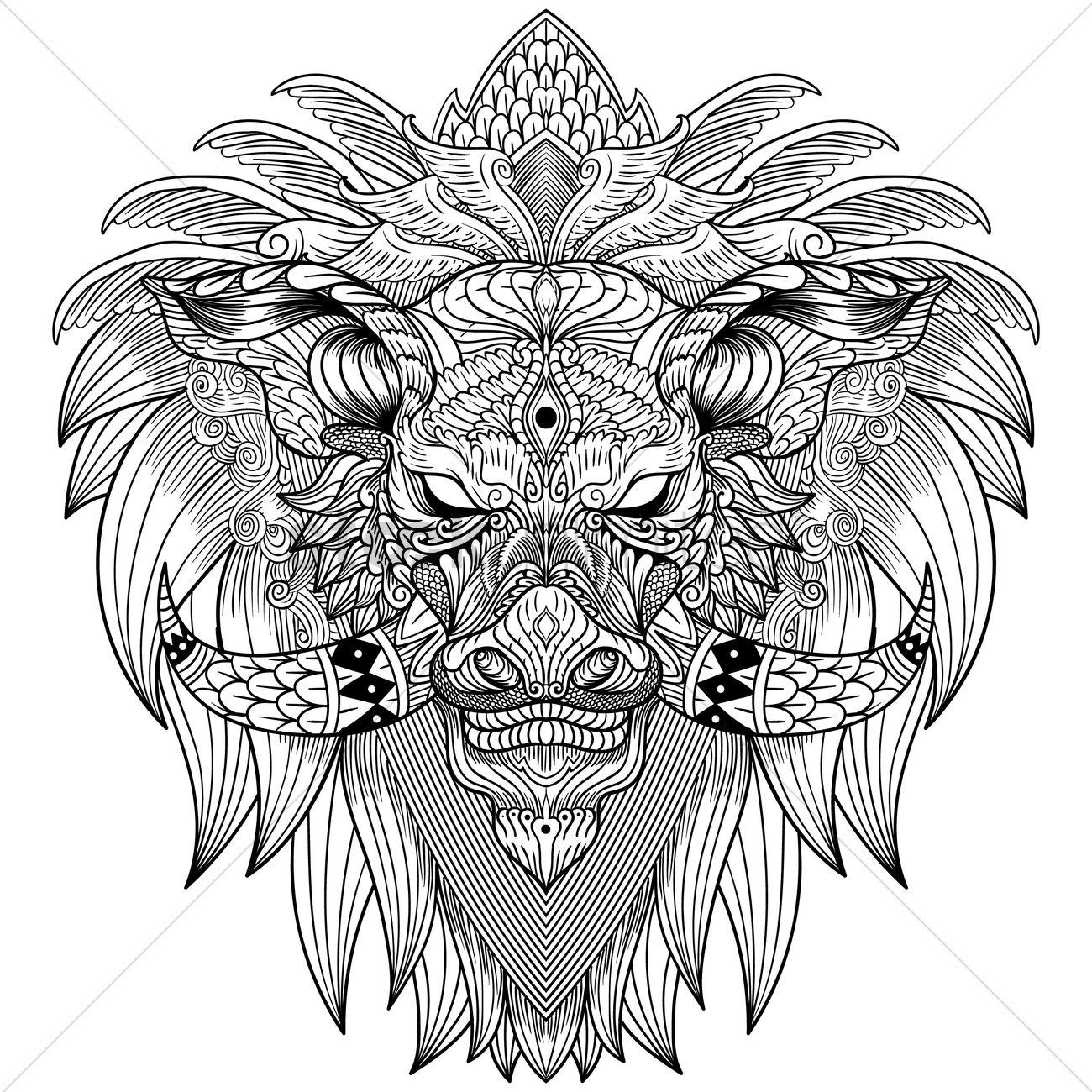 1300x1300 Free Intricate Boar Design Vector Image