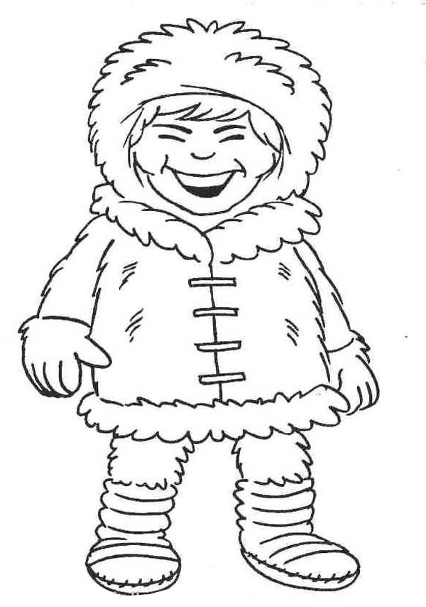 600x854 Inuit Little Girl Laughing Coloring Page Coloring Sky
