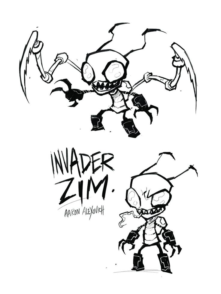 Invader Zim Drawing