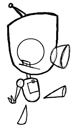 246x436 How To Draw Gir As Robot Without Dog Costume With Easy Lesson