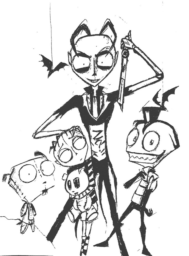 767x1040 Jthm And Invader Zim By Kamisami