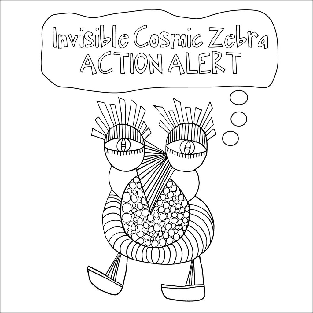 1024x1024 Invisible Cosmic Zebra Action Alert Kitanie Books