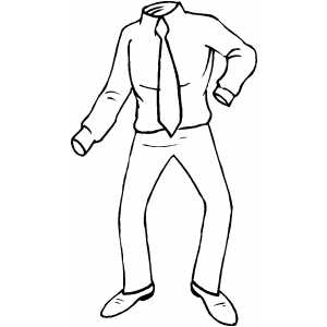 300x300 Invisible Man Coloring Page