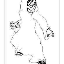 220x220 Harry Potter With Invisible Cape Coloring Pages