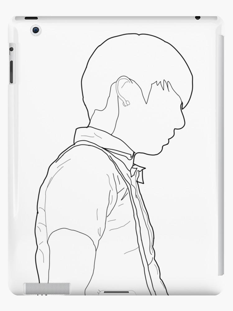 750x1000 Bts Jungkook Jeongguk Line Art Ipad Cases Amp Skins By