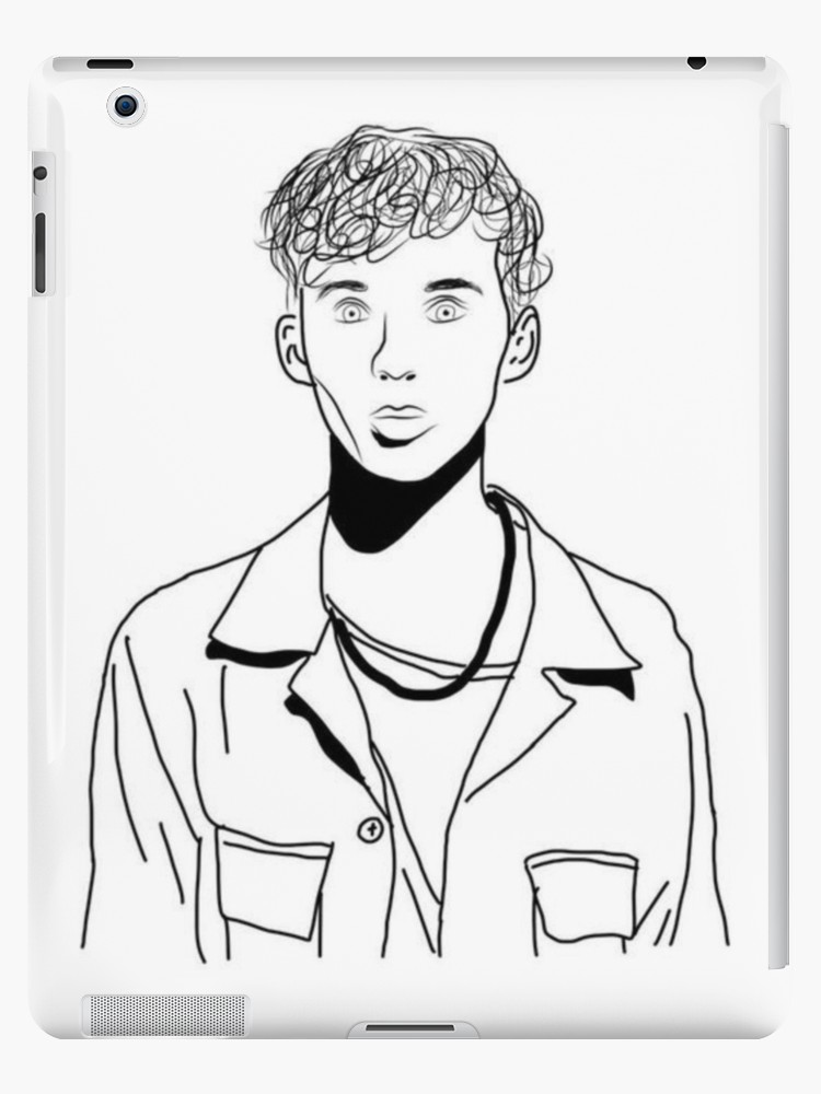 750x1000 Troye Sivan Outline Drawing Ipad Cases Amp Skins By Erin O'Leary