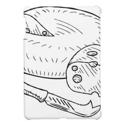 422x422 Cheese And Knife Vintage Retro Etching Style Ipad Mini Cases