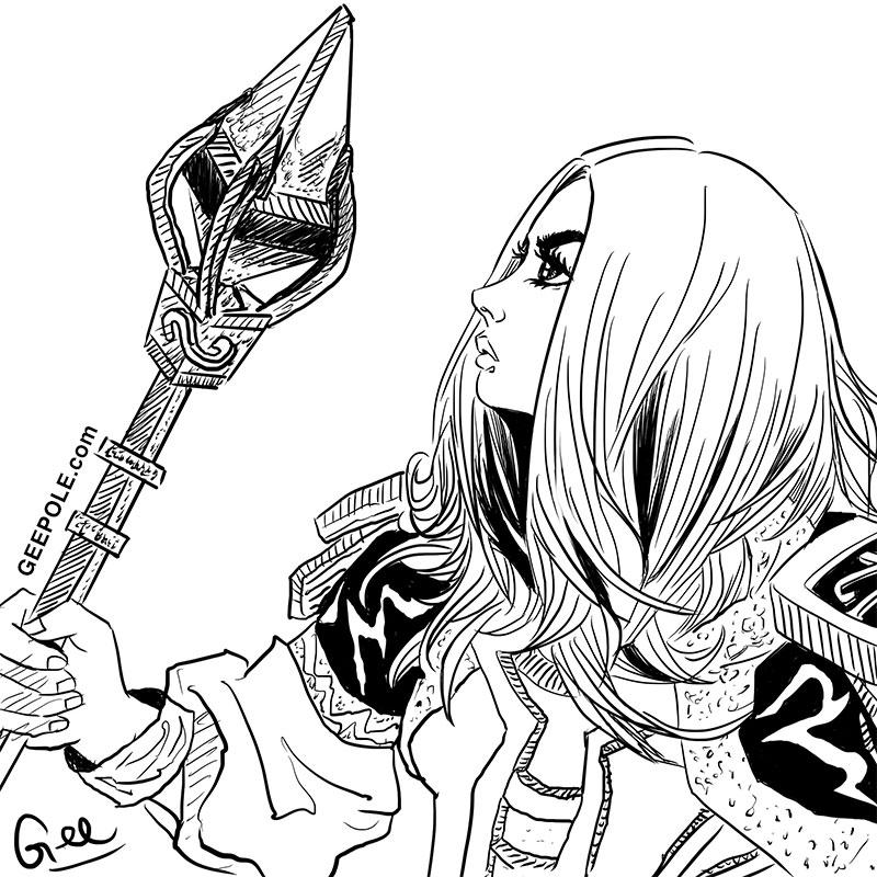 800x800 Girl Manga 014 Procreate, Apple Ipad Pro 9.7, Pencil Drawing