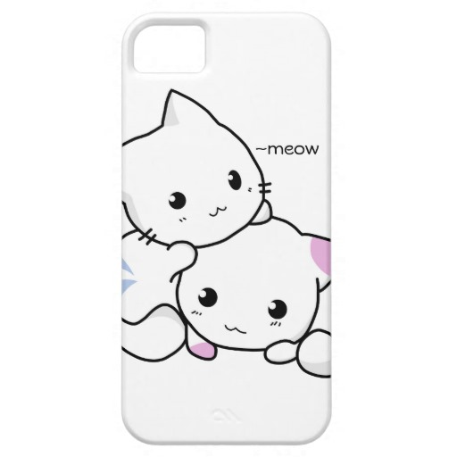 512x512 Cute Drawing Of Boy And Girl Kitten In Love Iphone Se55s Case