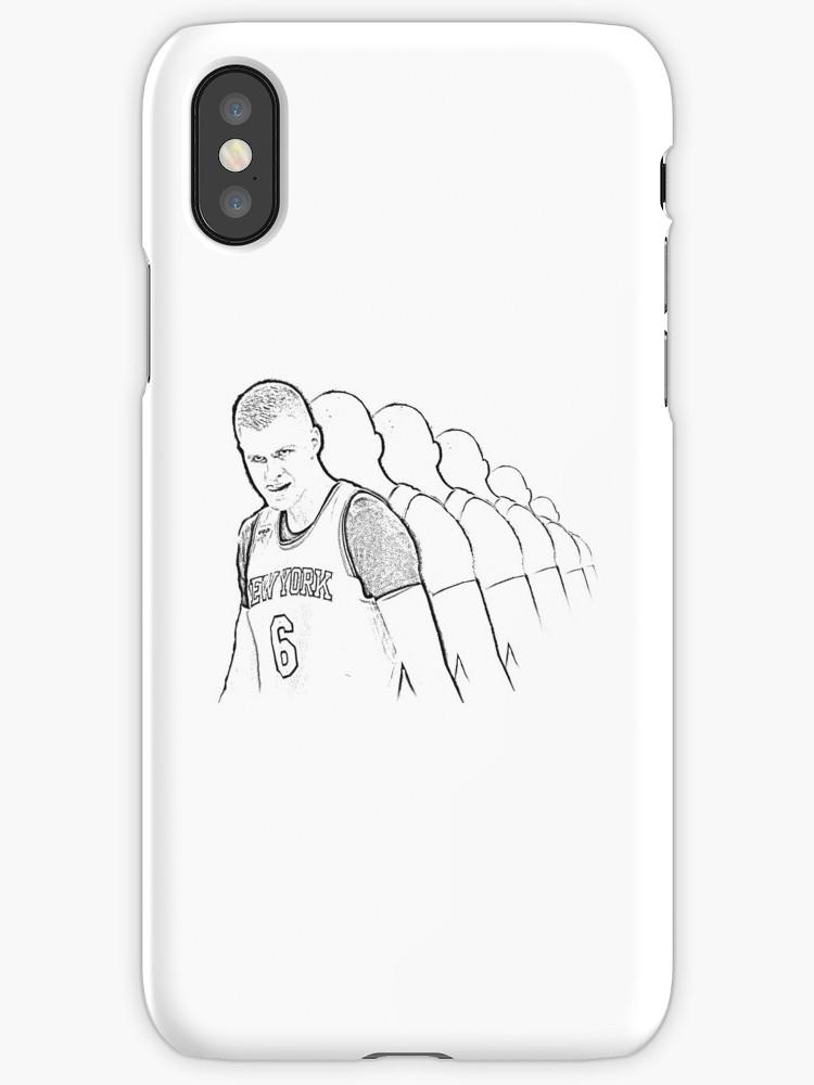 750x1000 Kristaps Porzingis Unicorn Swagger Look New York Knicks Sketch