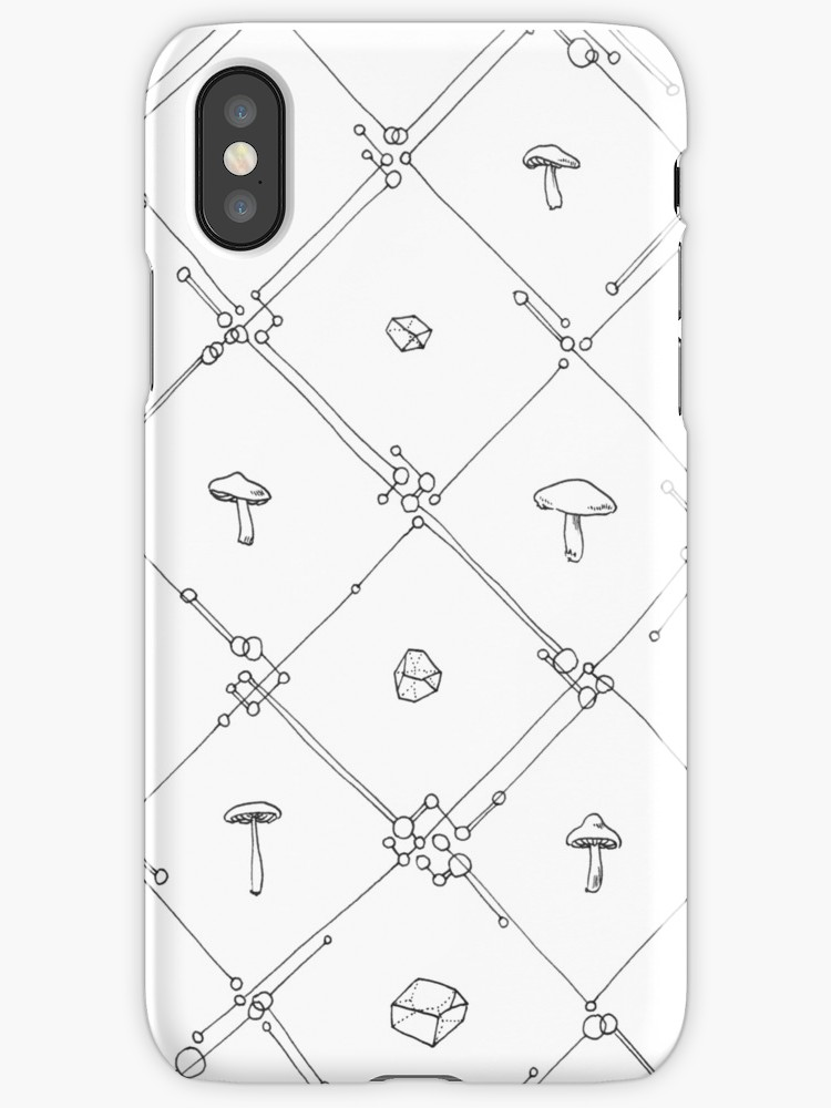750x1000 Gem And Mushroom Geometry Iphone Cases Amp Skins By Ej Landsman