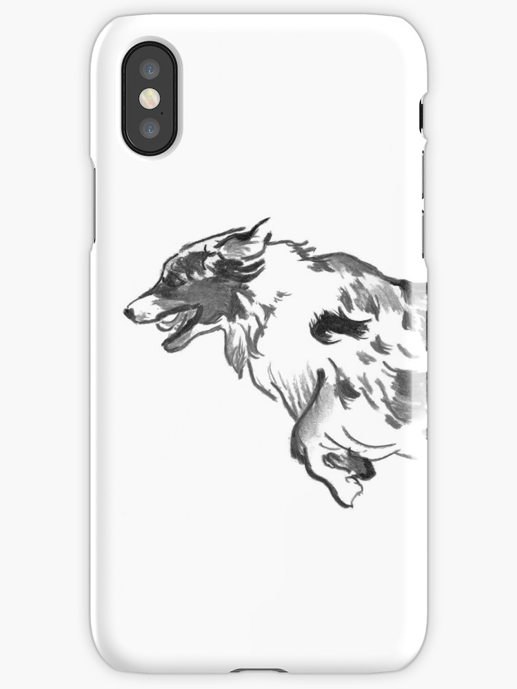 750x1000 Australian Shepherd Drawing Iphone Cases Amp Skins By Douglas