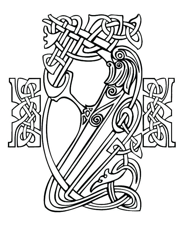 600x776 Ireland Coloring Pages Page Free Printable World