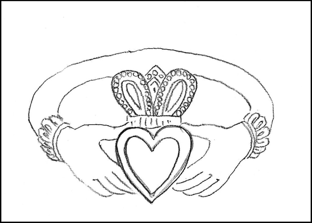 1024x731 Ireland Coloring Pages Celtic Cross Coloring Page Irish Symbols