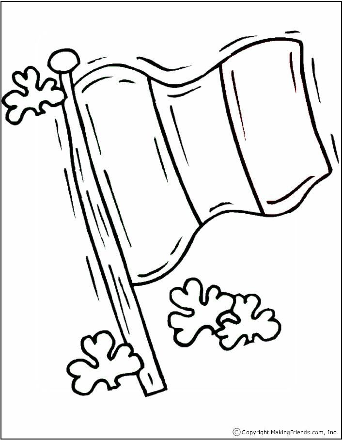708x908 Irish Flag Coloring Page
