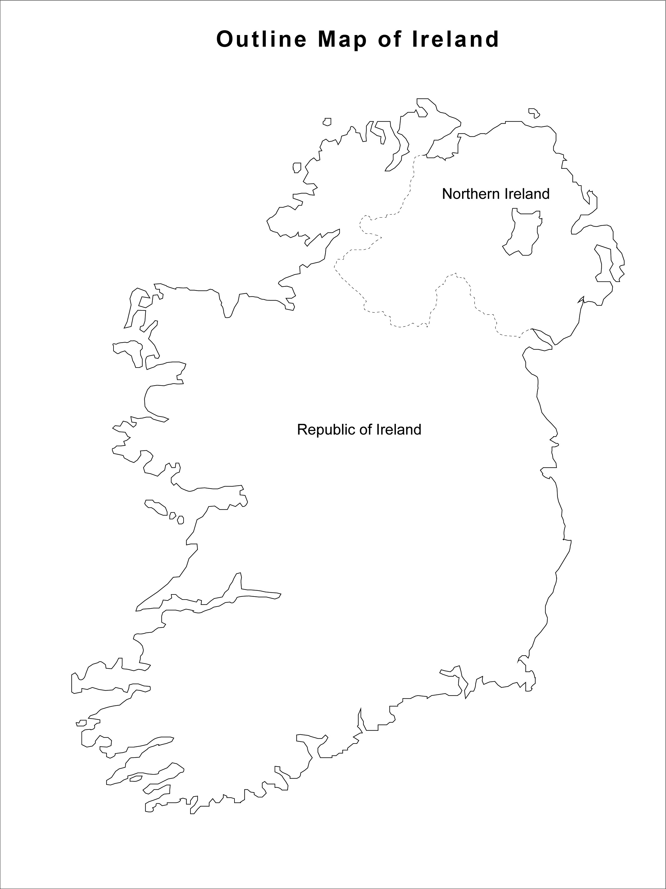 how to draw ireland map