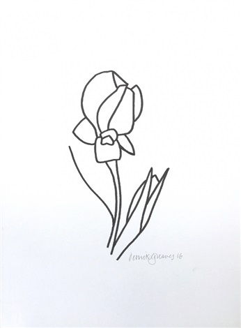 346x470 Iris Drawing 13 By Derrick Greaves On Artnet