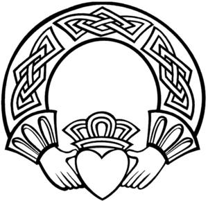 irish claddagh drawing at getdrawings com free for personal use rh getdrawings com  claddagh ring clipart