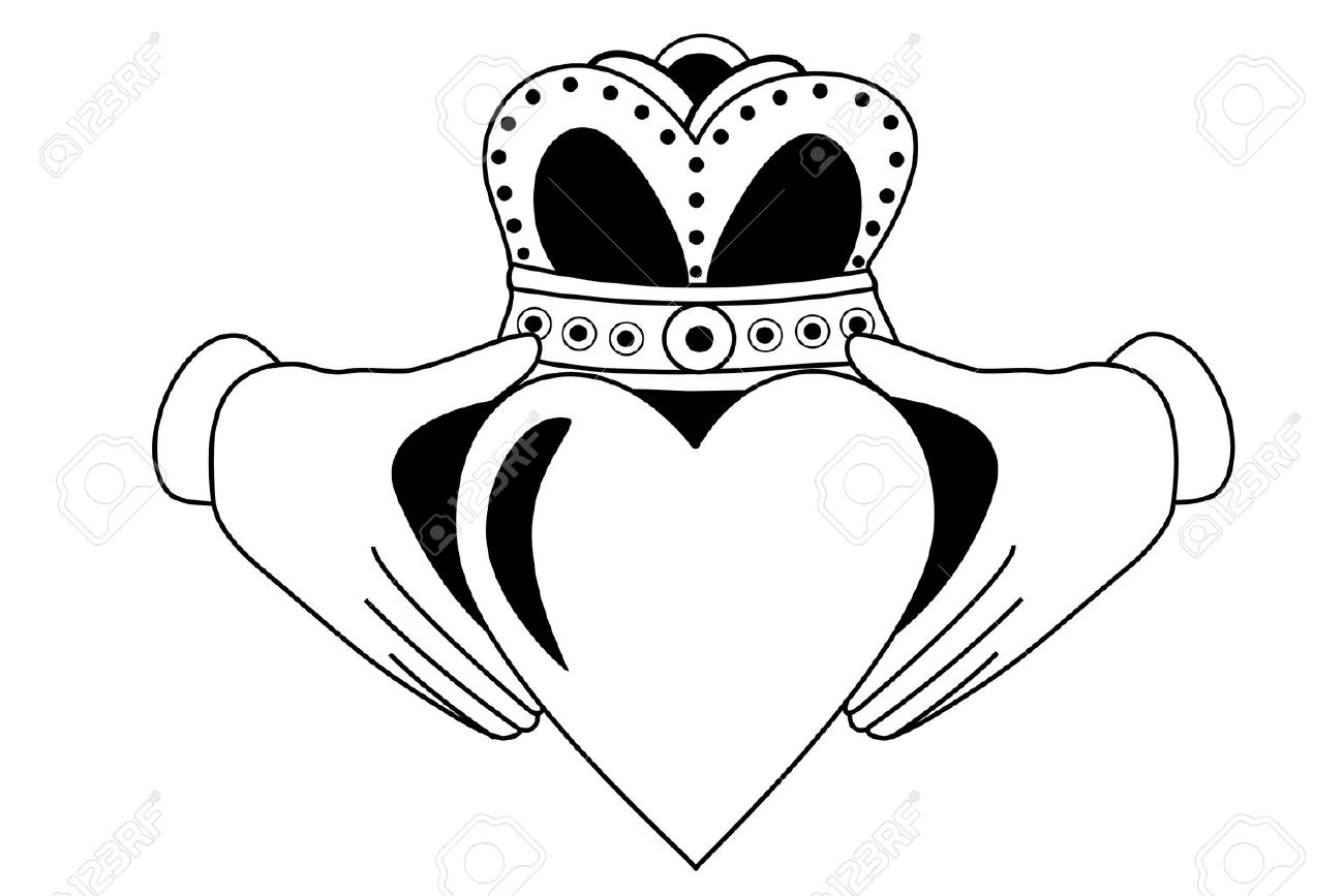 1300x867 Claddagh Tribal Tattoo Royalty Free Cliparts, Vectors, And Stock