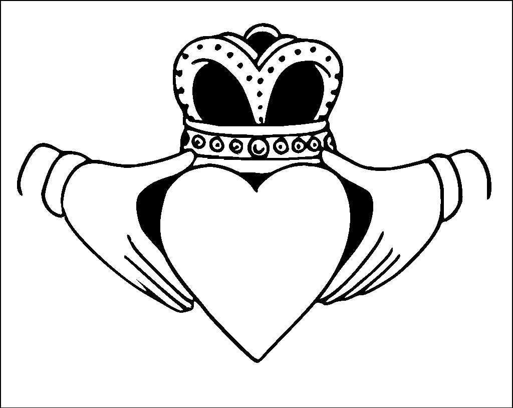 Irish Claddagh Drawing At Getdrawings Com Free For Personal Use